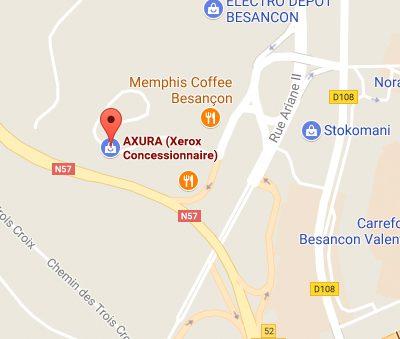 Axura : Centre d'affaires EXPOBAT – Espace Valentin 25048 BESANCON Cedex