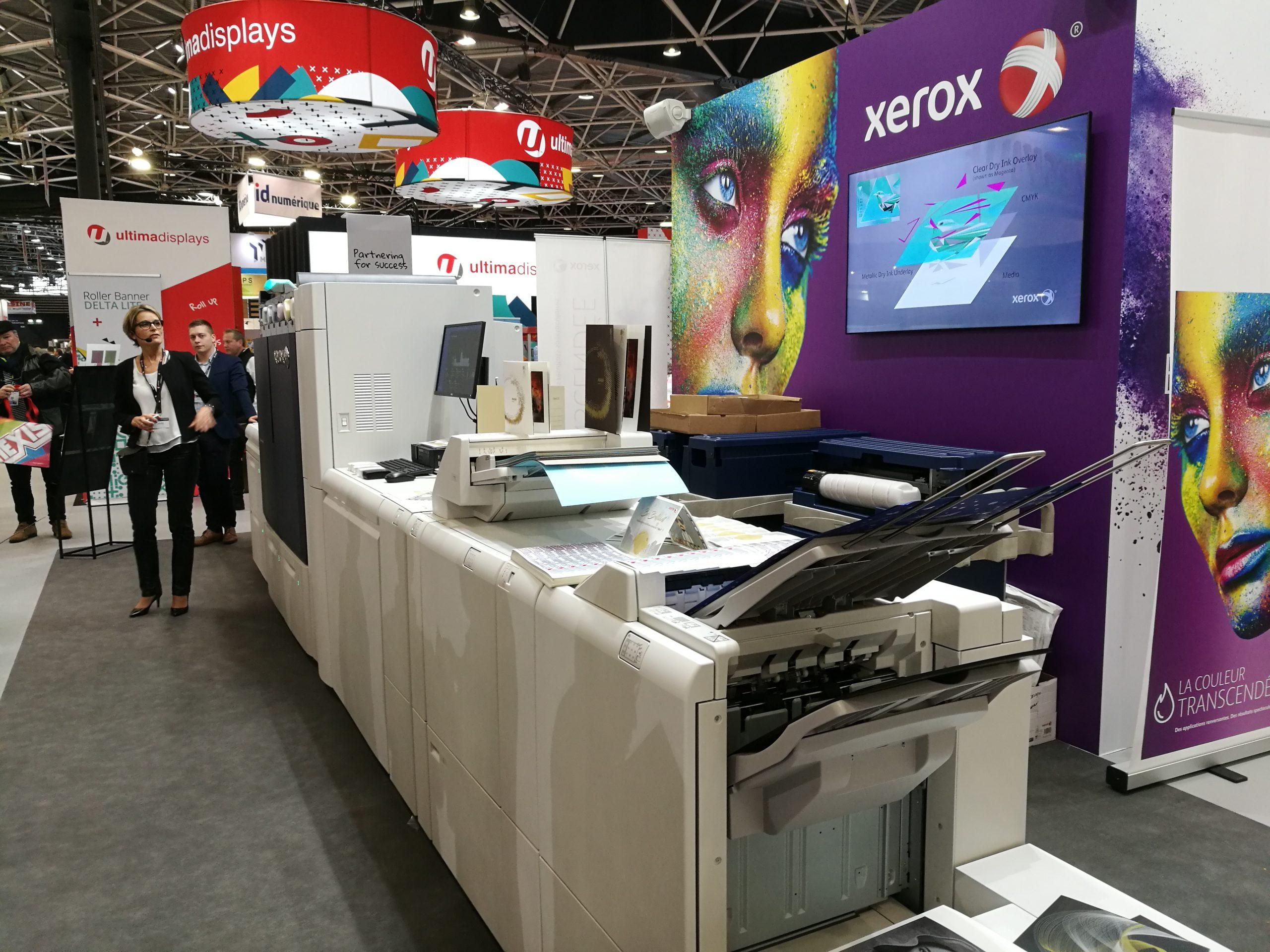Iridesse Xerox sur le salon CPrint