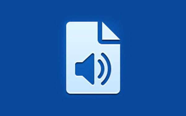 Icône application audio document