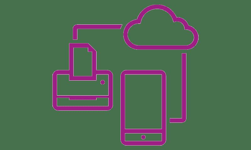 Icône violette du réseau