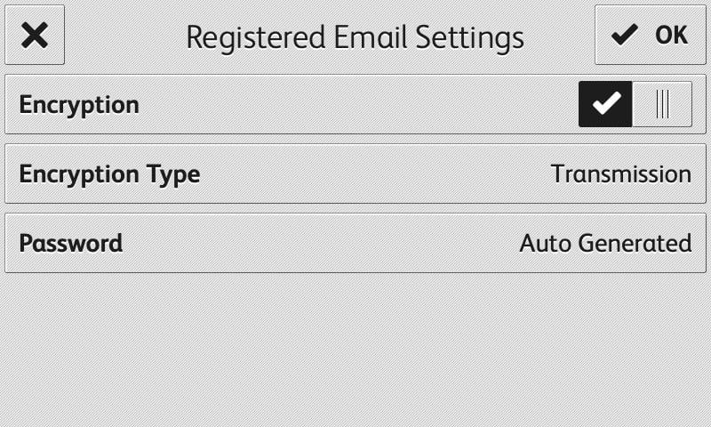 Capture d'écran App RMail enregistrement email